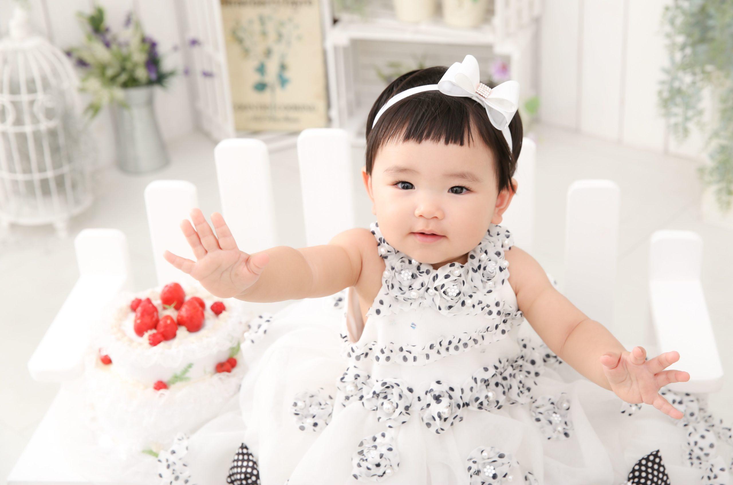1歳誕生日記念の写真